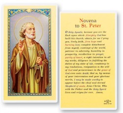 St. Peter Novena Laminated Prayer Cards 25 Pack [HPR518]