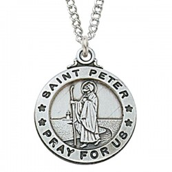 View all saint peter medal with necklace catholic faith store st peter medal enmc053 aloadofball Images