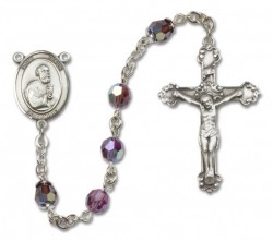St. Peter the Apostle Sterling Silver Heirloom Rosary Fancy Crucifix [RBEN1322]