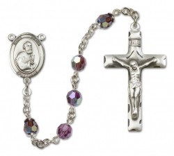 St. Peter the Apostle Sterling Silver Heirloom Rosary Squared Crucifix [RBEN0322]
