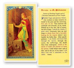 St. Philomena Novena Laminated Prayer Cards 25 Pack [HPR520]