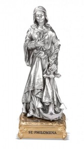 St. Philomena Pewter Statue 4 Inch [HRST520]
