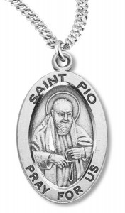 St. Pio Medal Sterling Silver [HMM1139]