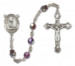 St. Pio of Pietrelcina Sterling Silver Heirloom Rosary Fancy Crucifix [RBEN1327]