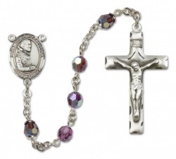 St. Pio of Pietrelcina Sterling Silver Heirloom Rosary Squared Crucifix [RBEN0327]