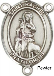 St. Rachel Rosary Centerpiece Sterling Silver or Pewter [BLCR0350]