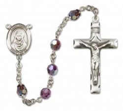 St. Rafka Sterling Silver Heirloom Rosary Squared Crucifix [RBEN0332]