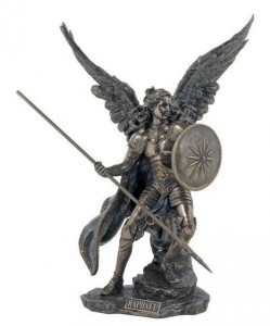 St. Raphael Bronzed Resin Statue - 13.5 Inches [GSCH1082]