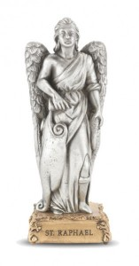 St. Raphael Pewter Statue 4 Inch [HRST526]