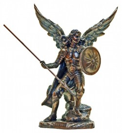 St. Raphael Statue, Bronzed Resin Finish - 9 inches [GSS012]