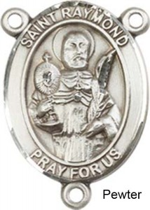 St. Raymond Nonnatus Rosary Centerpiece Sterling Silver or Pewter [BLCR0258]