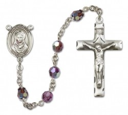 St. Rebecca Sterling Silver Heirloom Rosary Squared Crucifix [RBEN0335]