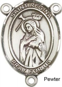 St. Regina Rosary Centerpiece Sterling Silver or Pewter [BLCR0433]
