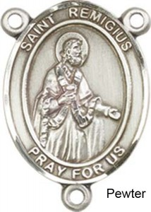 St. Remigius of Reims Rosary Centerpiece Sterling Silver or Pewter [BLCR0372]