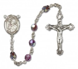 St. Rene Goupil Sterling Silver Heirloom Rosary Fancy Crucifix [RBEN1339]