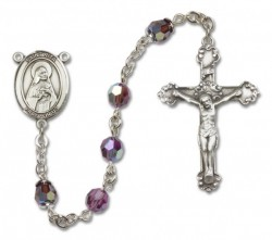 St. Rita of Cascia Sterling Silver Heirloom Rosary Fancy Crucifix [RBEN1342]