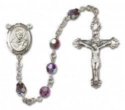 St. Robert Bellarmine Sterling Silver Heirloom Rosary Fancy Crucifix [RBEN1343]