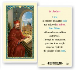 St. Robert Laminated Prayer Cards 25 Pack [HPR534]