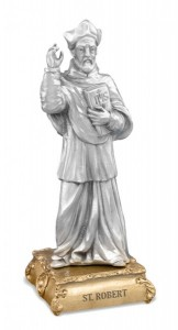 St. Robert Pewter Statue 4 Inch [HRST534]