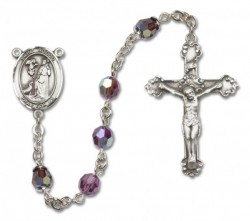 St. Rocco Sterling Silver Heirloom Rosary Fancy Crucifix [RBEN1344]