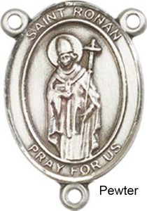 St. Ronan Rosary Centerpiece Sterling Silver or Pewter [BLCR0413]