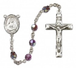 St. Rose Philippine Sterling Silver Heirloom Rosary Squared Crucifix [RBEN0349]