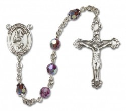 St. Scholastica Sterling Silver Heirloom Rosary Fancy Crucifix [RBEN1352]
