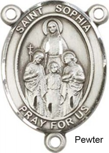 St. Sophia Rosary Centerpiece Sterling Silver or Pewter [BLCR0300]