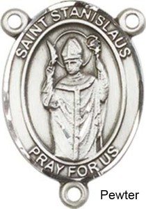 St. Stanislaus Rosary Centerpiece Sterling Silver or Pewter [BLCR0289]