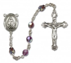 St. Theodora Guerin Sterling Silver Heirloom Rosary Fancy Crucifix [RBEN1400]