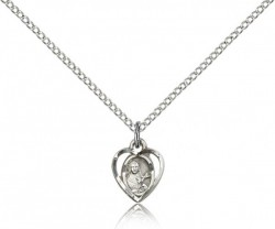 Petite St. Theresa Heart Shaped Necklace [BM0845]