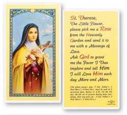 St. Therese Pick Me A Rose Laminated Prayer Cards 25 Pack [HPR340]