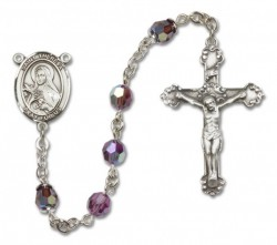 St. Theresa Sterling Silver Heirloom Rosary Fancy Crucifix [RBEN1401]
