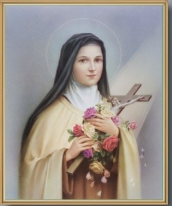 St. Therese Gold Framed Print [HFA0158]