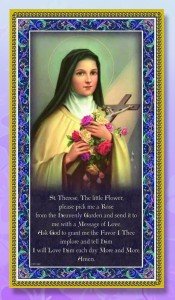 St. Therese Italian Prayer Plaque [HPP017]