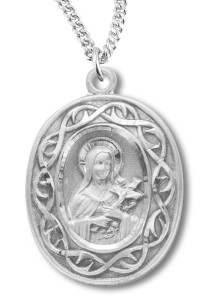 St. Therese Medal Sterling Silver [REM2052]