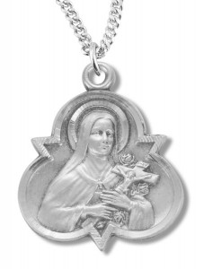 St. Therese Medal Sterling Silver [REM2053]
