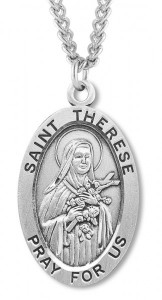 St. Therese Medal Sterling Silver [HMM1148]