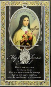 St. Therese  Medal in Pewter with Bi-Fold Prayer Card [HPM007]