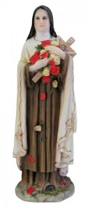 St. Therese Statue, Hand Painted - 8 inch [GSS044]