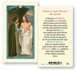St. Thomas The Apostle Laminated Prayer Cards 25 Pack [HPR551]