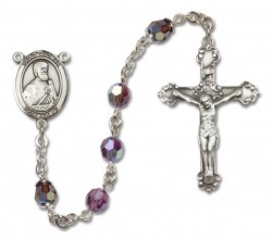 St. Thomas the Apostle Sterling Silver Heirloom Rosary Fancy Crucifix [RBEN1407]
