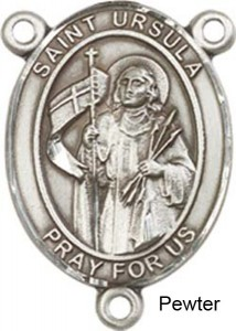 St. Ursula Rosary Centerpiece Sterling Silver or Pewter [BLCR0292]