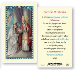 st valentine day laminated prayer cards 25 pack hpr556 - Saint Valentine Prayer