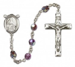 St. Veronica Sterling Silver Heirloom Rosary Squared Crucifix [RBEN0412]