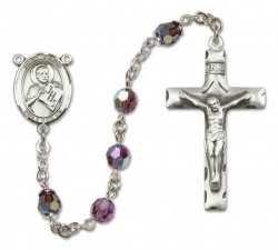 St. Viator of Bergamo Sterling Silver Heirloom Rosary Squared Crucifix [RBEN0413]