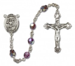 St. Vitus Sterling Silver Heirloom Rosary Fancy Crucifix [RBEN1418]