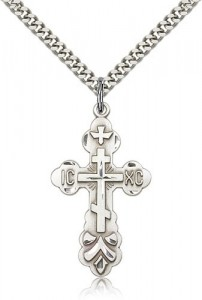 Men's St. Xenia Orthodox Cross Pendant [CM2166]