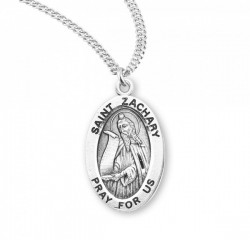 Saint Zachary Medal with Necklace | Catholic Faith Store