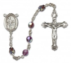 St. Zachary Sterling Silver Heirloom Rosary Fancy Crucifix [RBEN1424]